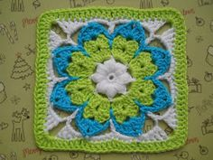 "Octagon Flower square 6.5"" (pattern)"
