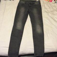 Michael Kors steel gray jeans Steel gray skinny jeans with a black lace pocket detail. In perfect condition Michael kors  Pants Skinny
