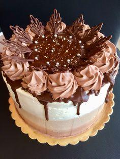 Vanilla, coffee and chocolate cake
