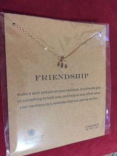 DOGEARED Anchor Friendship Necklace Retail $58! Perfect Valentines Gift #Dogeared