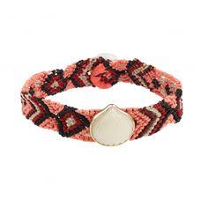 "Dezso ""Anadara"" bracelet made of 18-kt rose gold and aventurine"