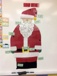 Label Santa. Use with adjectives?