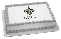 NFL New orleans Saints  Edible Cake Image Topper