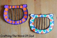 Davids Harp  David was a master musician, a poet, a writer of psalms, a worshipper and  a man after God's own heart. This cute craft will serve as a great reminder of the life of David. A lowly shepherd boy chosen by God to be the king of Israel.