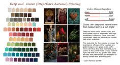 Deep and  Warm, Deep Autumn, Dark Autumn
