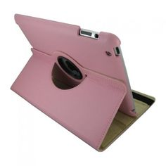 iPad cover med 360 graders roterende case - Lyserød - CheapGear