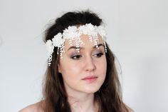 Bridal wedding hair vinebridal wedding head bandbridal wedding wedding boho bando head band wedding hair flower head wreathwhite head band with mightylinksfo