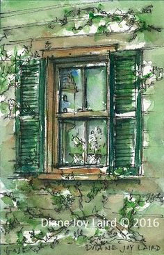 """""""Lillies in Window"""" Windows, Simple, Prints, Painting, Home Decor, Decoration Home, Room Decor, Painting Art, Paintings"""