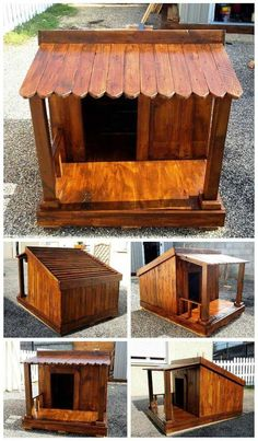 Pallet Dog House - 45 Easy DIY Dog House Plans & Ideas You Should Build This Season