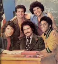 1970's Welcome Back, Kotter is an American television sitcom starring Gabe Kaplan and featuring a young John Travolta. Videotaped in front of a live studio audience, it originally aired on the ABC network from September 9, 1975, to June 8, 1979.  Also cast were Marcia Strassman, John Sylvester White, Robert Hegyes, Lawrence Hilton-Jacobs & Ron Palillo