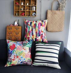 3 Nordic Watercolour Abstract Geometric Pillow Covers Throw Cushion Boho Chic