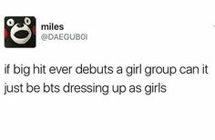 And name them Bangtan Girls instead