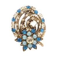 Sparkling Diamante Artistically Decorated Embedded Crystals Brooch Pin