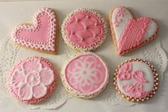 Decorated Valentine Cookies | valentine | Decorated Sugar Cookies.....