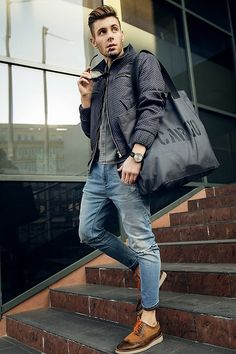Diesel Jeans, Owee Bag, Zara Shoes, Madox Jacket, Brax Watch