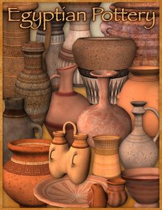 Egyptian Pottery in Places and Things,  3D Models by Daz 3D