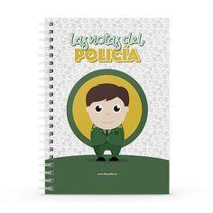 Cuaderno XL - Las notas del policía, encuentra este producto en nuestra tienda online y personalízalo con un nombre. Notebook, Cover, Sketchbook Cover, Sketchbooks, Report Cards, Store, The Notebook, Exercise Book, Notebooks