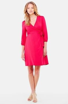 Shop Now - >  https://api.shopstyle.com/action/apiVisitRetailer?id=439653768&pid=uid6996-25233114-59 Women's Ingrid & Isabel Nursing Friendly Maternity Wrap Dress  ...