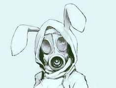 Image de anime, bunny, and gas mask Gas Mask Drawing, Gas Mask Art, Masks Art, Gas Masks, Anime Mascaras, Drawing Sketches, Cool Drawings, Character Art, Character Design
