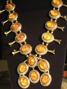 Native American Rare Amber Squash Blossom by hoffshops on Etsy, $1399.00 wow! never seen one like this before!