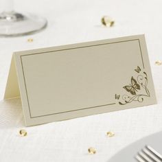Wedding Stationery, Butterfly Place Cards - Elegant Butterfly