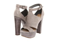 So minimal modern - great grey leather. Stone / whale / paper in texture. Love the banding. Again, another star wars heel. Jessica Simpson Kylie