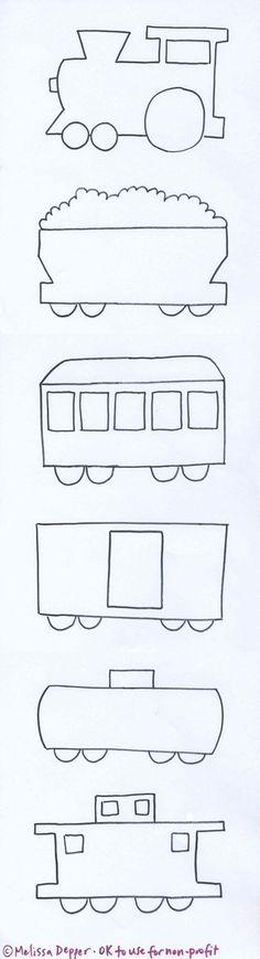 Train Patterns for Preschool - Excellent Train Patterns for Preschool, Train Template for Preschoolers Applique Templates, Applique Patterns, Applique Designs, Quilt Patterns, Owl Templates, Train Template, Heart Template, Flower Template, Sewing Appliques