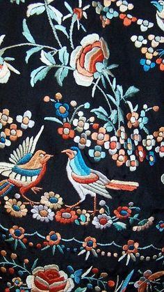 1stdibs.com | 1920's Elaborately Hand Embroidered Chinese Jacket on Black Silk