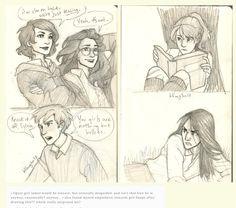 Genderbent Maurader generation Harry Potter. Burdge