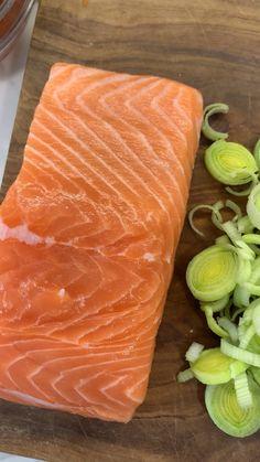 Salmon Recipes, Fish Recipes, Seafood Recipes, Fast Healthy Meals, Healthy Life, Healthy Recipes, Fast Good, Good Food, Yummy Food