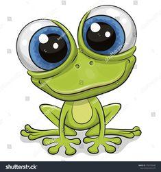 Cute Cartoon Drawings, Cute Animal Drawings, Frog Drawing, Drawing Sketches, Cartoon Mignon, Art Fantaisiste, Art Mignon, Frog Art, Cute Frogs