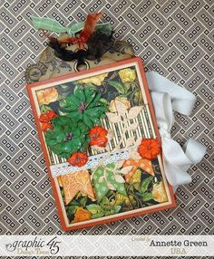 Autumn floral card