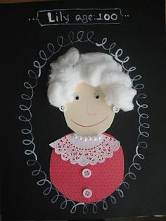 100th day of school self-portraits - SO CUTE!