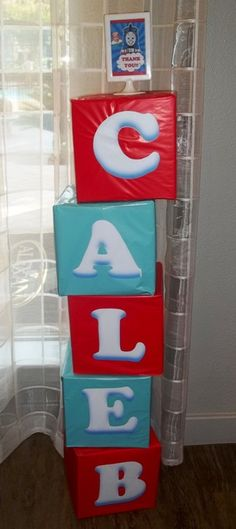 Maybe a cute way to decorate for any of the themes? We could print or paint the letters and I probably have wrapping paper lol.