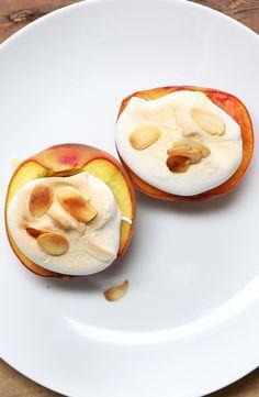 Almond Meringue Peaches