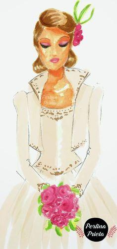 Novias ilustradas: novia de lujo