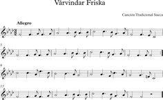 Vårvindar Friska. Canción Tradicional Sueca.