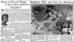 "Halloween recipes published in the Plain Dealer newspaper (Cleveland, Ohio), 26 October 1930. Read more on the GenealogyBank blog: ""Old Halloween Recipes from Our Ancestors' Kitchens."" http://blog.genealogybank.com/old-halloween-recipes-from-our-ancestors-kitchens.html"