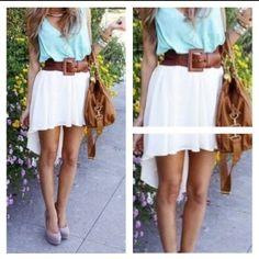 Hi lo skirt.