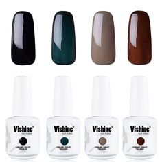 Vishine Soak Off Gel Polish Lacquer UV LED Nail Art Manicure Kit 4 Colors Set C203 ** You can find out more details at the link of the image.