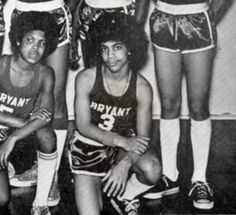 Prince in his junior high basketball team