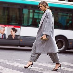 Oversized tailoring encapsulates effortless chic at #PFW. Just add fierce…