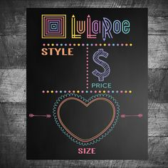 LuLaRoe  sign, looks like chalkboard  LuLaRoe Seller chalkboard like, sign…