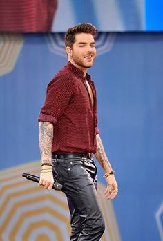 adam lambert performs on gma