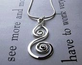 Whirlwind Pendant - Sterling Silver Artisan Design