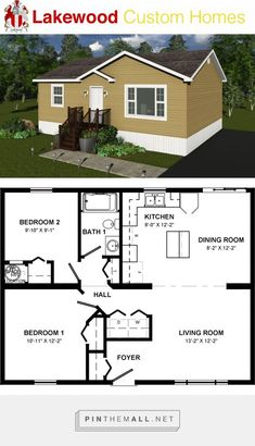 Building A House Small Living Rooms Building A House Ideas Kitchen Cupboards Small House Floor Plans, Cottage Floor Plans, Cabin Floor Plans, Cottage Plan, Tiny House Cabin, Tiny House Design, 2 Bedroom House Plans, House Layouts, Design Case