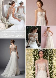 2. The Hottest Wedding Dress Trend: Illusion Lace