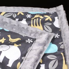 DIY Baby Blanket with Minky