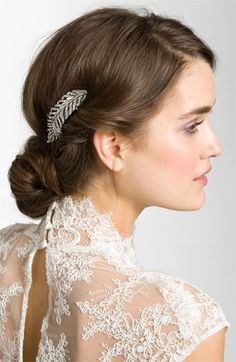 Tasha 'Feather' Crystal Hair Clip | Nordstrom