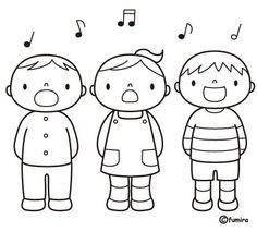 Albüm Arşivi Art Drawings For Kids, Drawing For Kids, Art For Kids, Coloring Sheets For Kids, Colouring Pages, Bird Template, Cute Doodle Art, Japanese Drawings, Music Crafts